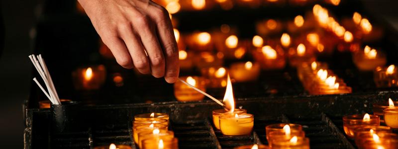 Kerzen in Liebfrauen Frankfurt